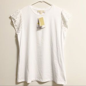 Michael Kors Women White T-Shirt